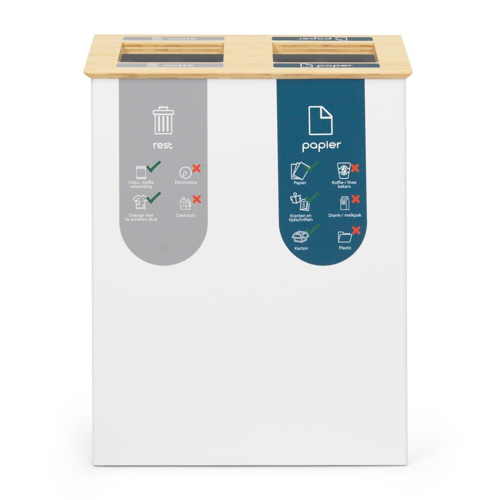 duo-prullenbak-40-liter-afvalscheiden-magneetsigning