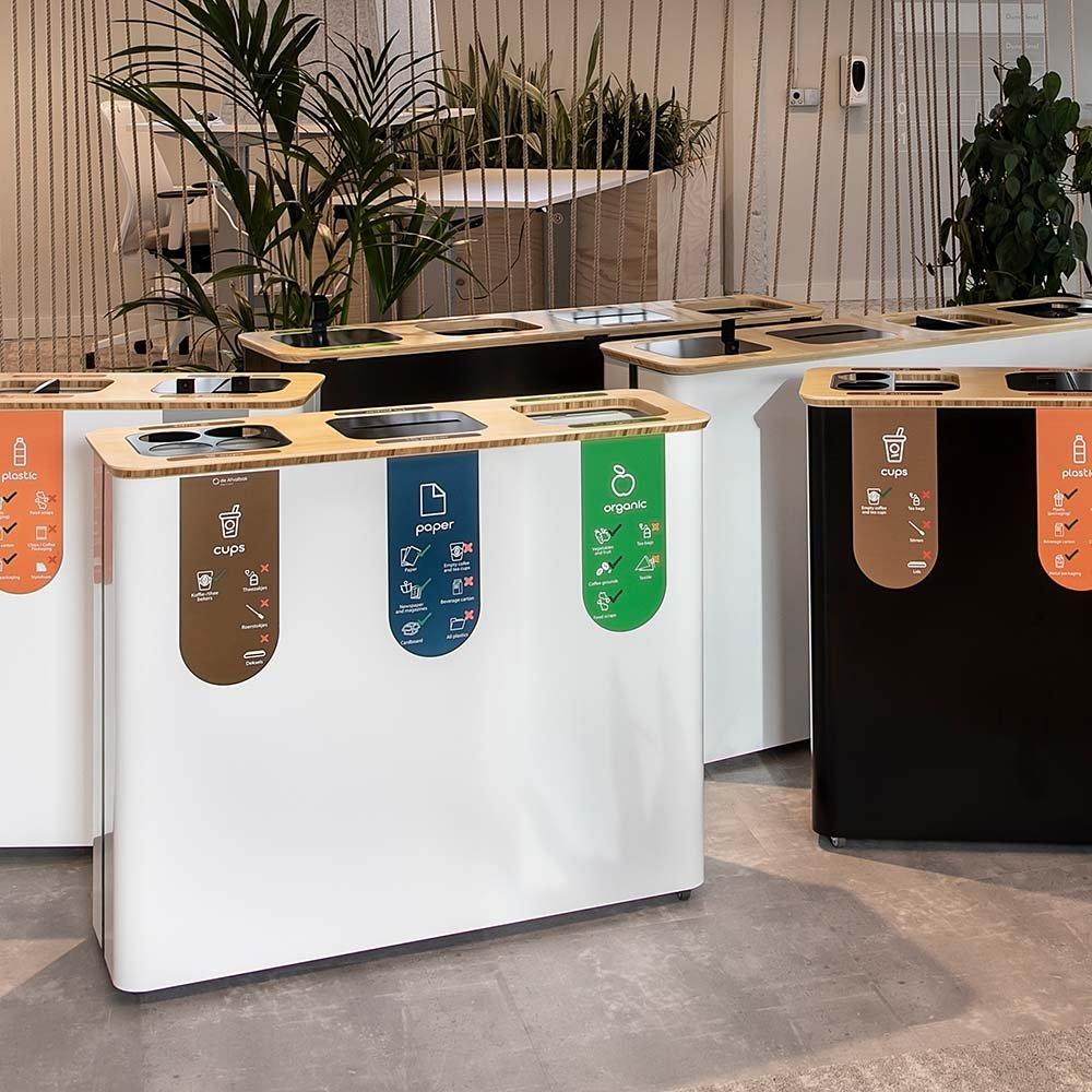 afvalbak meerdere compartimenten kantoor